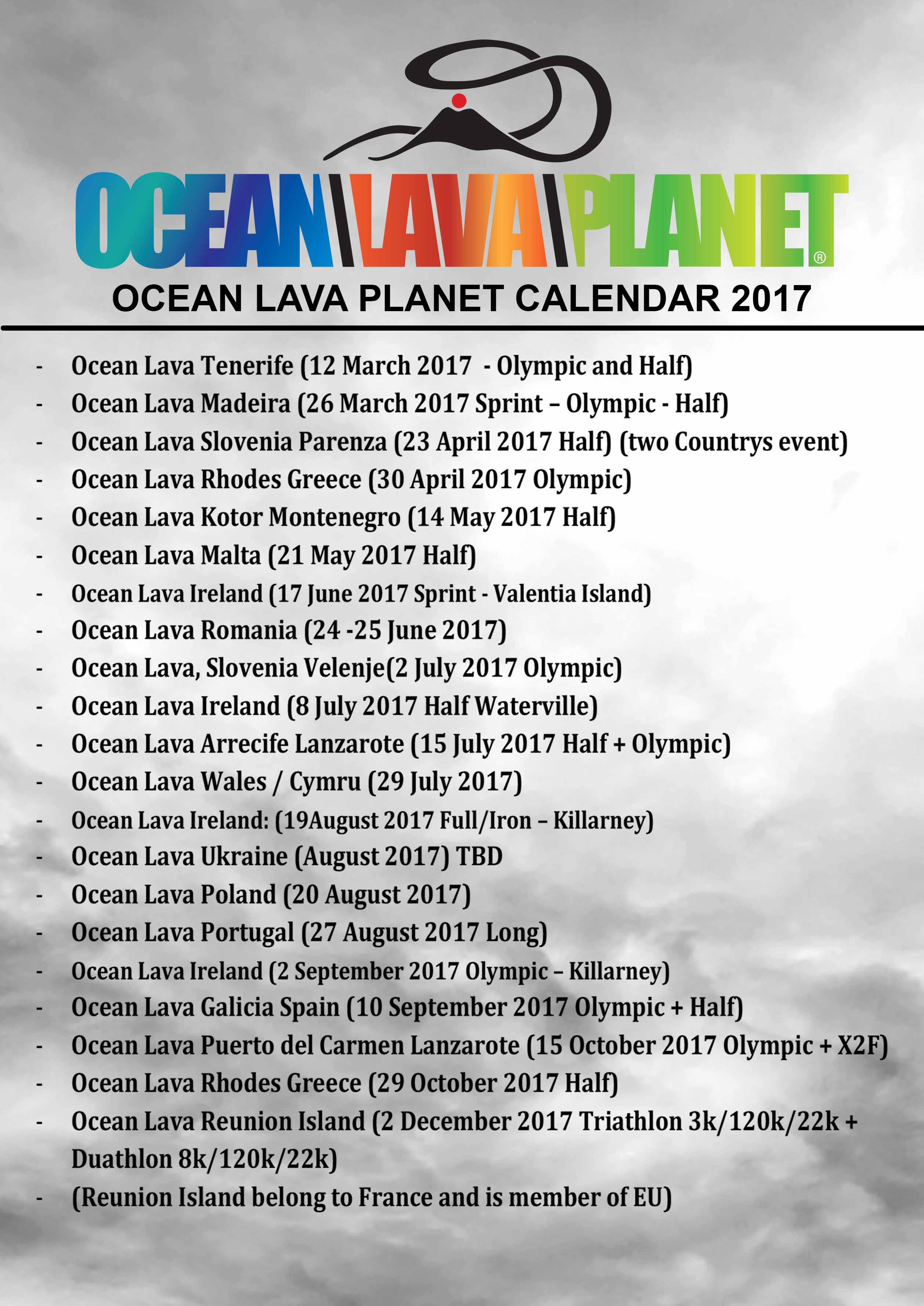 Ocean Lava Planet Calendar