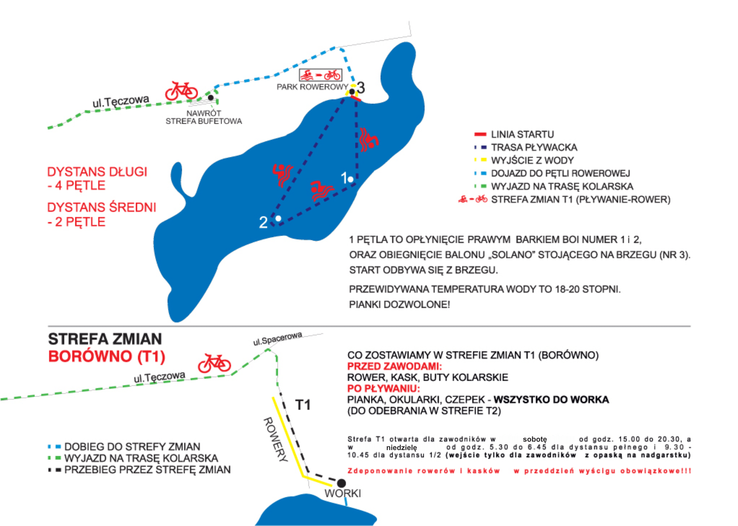 OceanLava Triathlon Polska | Trasa pływacka + T1